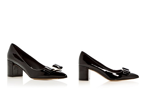 Salvatore Ferragamo Women's Patent Leather Block Heel Pumps - Bloomingdale's_2